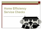 Home Efficiency Service Checks