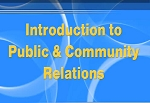 Introduction to Public & Community Relations