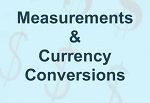 Measurements & Currency Conversions
