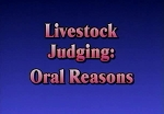 Livestock Judging: Oral Reasons