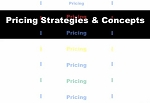 Pricing Strategies & Concepts